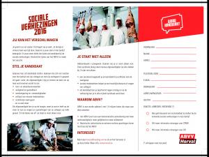 flyer word kandidaat sociale verkiezingen v