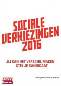 sociale verkiezingen: Stel je kandidaat